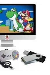 Pendrive com 7 mil jogos para Pc ou Notebook + 1 controle Super Nintendo