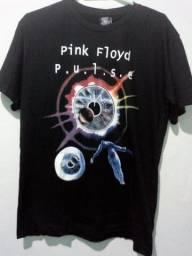 Camisa slayer, bom Jovi, e pink Floyd