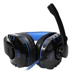 Fone de ouvido gamer Haiz Alpha 1804 preto e azul