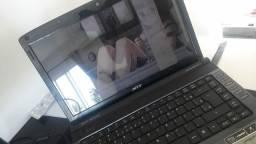 Notebook Acer Aspire para uso com monitor ou retirada de peças
