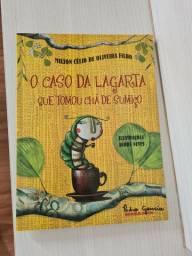 Livro O caso da lagarta que tomou chá de sumiço