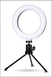 Ring light Profissional 6 Polegada Tripe Mesa Para Video Foto