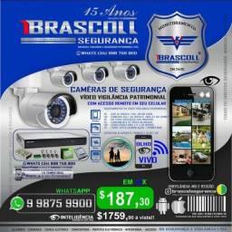Câmeras de Segurança 12x 187,30 Vídeo Vigilância