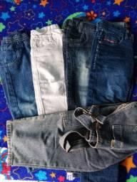 Calça jeans e macacão infantil menino
