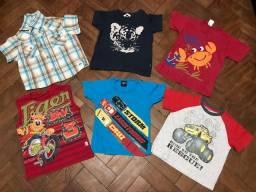 Lote 6 Camisas Menino (1 a 2 anos)