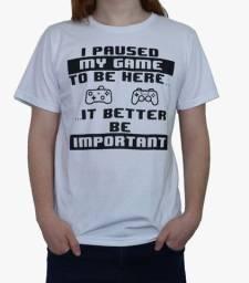 Camiseta Geek - Games - 100% Algodão