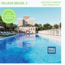 [67] O Seu Apê com Ampla Varanda | Cond. Brasil 3