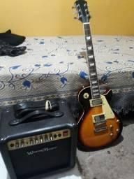 Guitarra, cubo de 30wats, cabo, Correia, e capa.