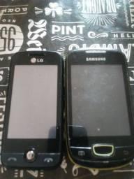 Vendo dois celulares pra pecas Sansung e LG