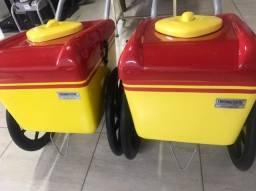 2 Carrinhos De Picolé E Sorvete T350 Até 300 Picolés Geladinho