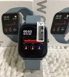 Smartwatch P8 Colmi Original (Preto, Azul e Rosa)