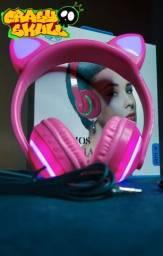 Headfone de gatinho (fone de ouvido Bluetooth)
