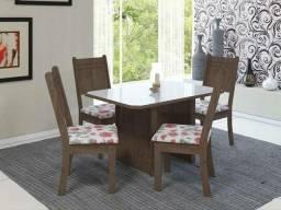 Mesa de jantar MDF com 4 cadeiras novas na caixa entrega grátis