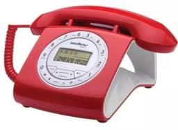 Telefone Retro Fixo Com Fio Intelbras Tc8312 Vermelho