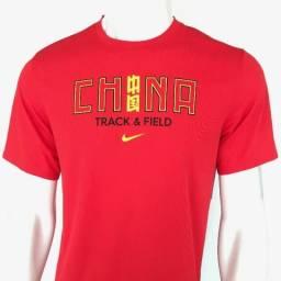 081 Camisa Camiseta Nike Dri Fit China Equipe Atletismo Tam P Original  Raridade Tamanho P df2f614ea748c