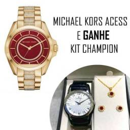 1975060e83b Relógio Michael Kors Access Smartwatch Gold Zircônias - Mkt5002