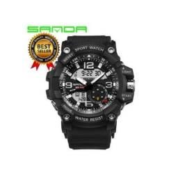 125573616c5 Relógio Analógico  Digital Sanda Esportivo G-shock Prova D água