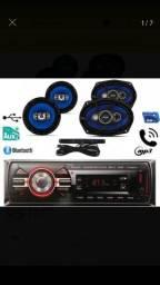 Radio automotivo + kit falantes 6 , 6×9 e antena comprar usado  Sapiranga