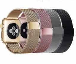 Pulseiras milanesa Apple Watch aceito cartão