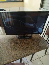 Monitor tv led de 24 polegadas com defeito