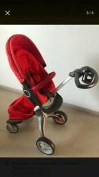 Carrinho bebê stokke xplory vermelho