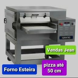 Forno e esteira para pizza