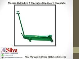 Macaco hidráulico jacaré 2T compacto JAC02C Potente