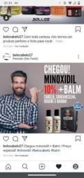 Minoxidil + Balm para crescimento de barba e cabelo