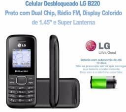 Celular Lg-b220 2 Chips Radio Fm Lanterna Original Preto