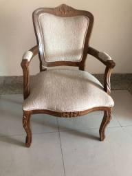 Cadeiras luiz vx madeira e tecido bege lindas