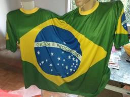 Camiseta do Brasil pra casal, fantasia