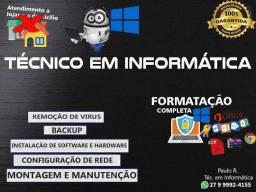 Formatação e Manutenção de Computadores e Notebooks (Serra)