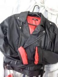 jaqueta em courinho sintético tamanho G