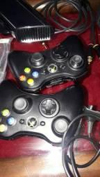 Xbox one 360 com kinect e dois controles