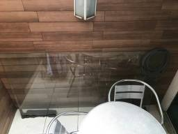 Tampo de vidro 10 mm para mesa bisotado