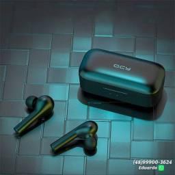 Fone de ouvido QCY T5 Gamer!! 5 horas de música!!!