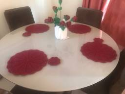 Suplast de mesa 4pecas em vinho