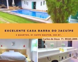 Excelente casa condomínio, 4 Quartos, 01 suíte máster, closet, 300 m², em Barra do Jacuipe