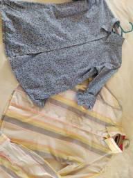 Duas camisas femininas por 50,00