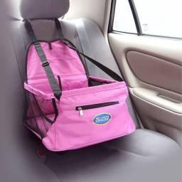 Cadeirinha de cachorro para carro (assento pet)