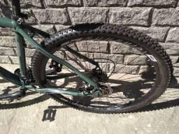 Bicicleta aro 29 quadro 19 verde quartel