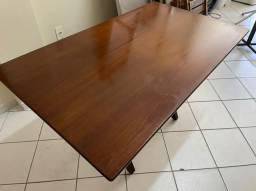 Mesa madeira maciça retangular
