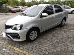 Etios sedan 1.5 X  automático mod 2019 estado de novo