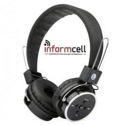 Headphone Sem Fio Bluetooth e Rádio FM