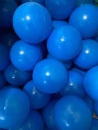 500 bolinhas azuis plástico
