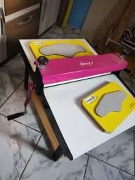 Máquina de corte e vinco boca 50 cm + faca de máscara neoprene