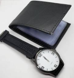 Carteira Masculina + Relógio
