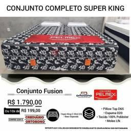 Cama Super King Fusion Novinha Direto de fábrica Entrega grátis no mesmo dia