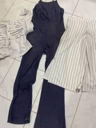 Lote de calça nunca usada/ macacão / casaco