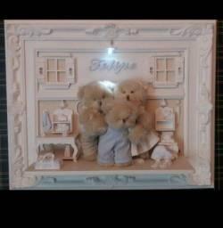 Quadro Ursos Decorar Quarto do Bebê